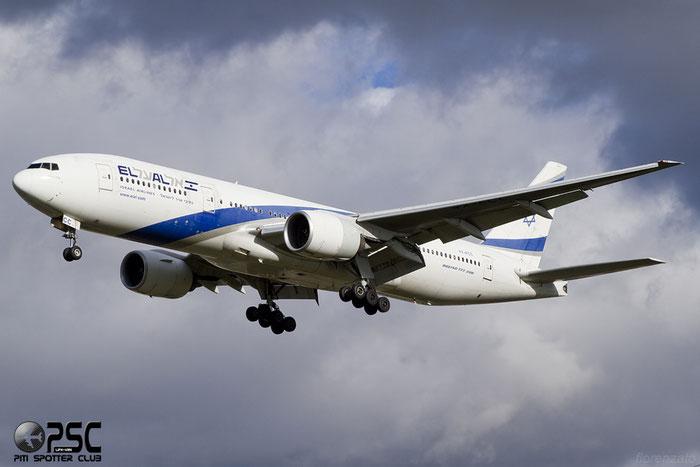 4X-ECC B777-258ER 30833/335 El Al Israel Airlines @ London Heathrow Airport 07.02.2014 © Piti Spotter Club Verona