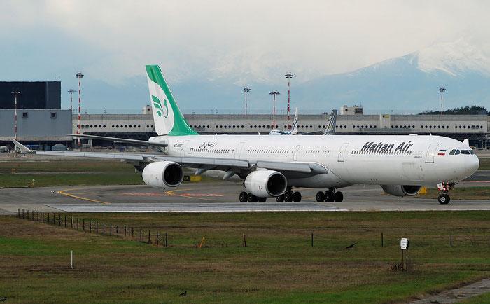 EP-MME A340-642 371 Mahan Air @ Milano Malpensa 009.12.2018 © Piti Spotter Club Verona