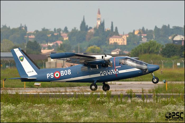 Italy - Police Partenavia P.68 Observer 2 - PS B08 @ Aeroporto di Verona © Piti Spotter Club Verona