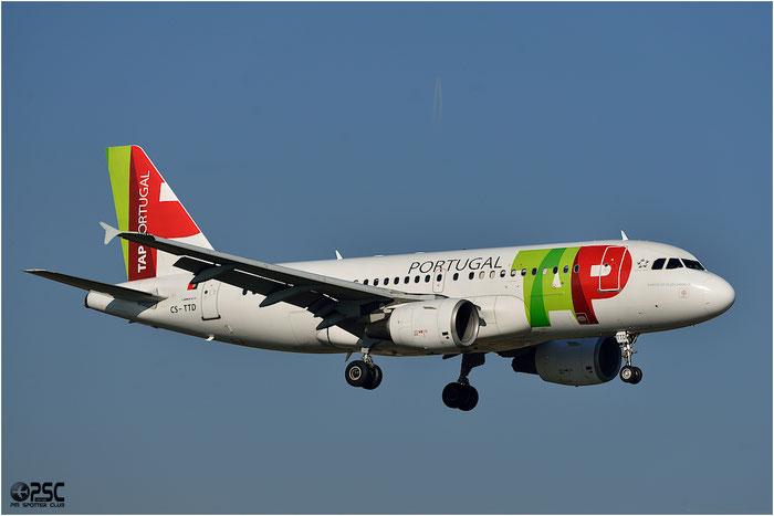 CS-TTD A319-111 790 TAP Portugal - Transportes Aéreos Portugueses @ Bologna Airport 06.12.2013 © Piti Spotter Club Verona