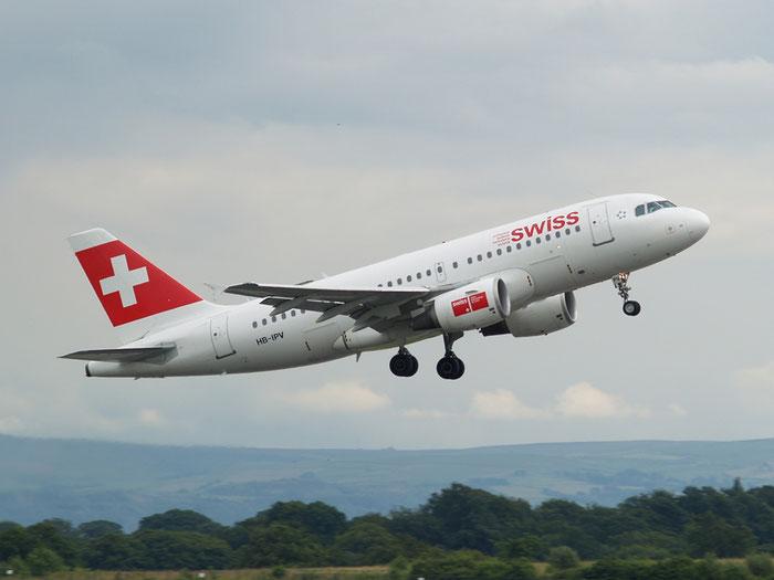 HB-IPV A319-112 578 Swiss International Air Lines @ Manchester Airport 20.07.2012 © Piti Spotter Club Verona