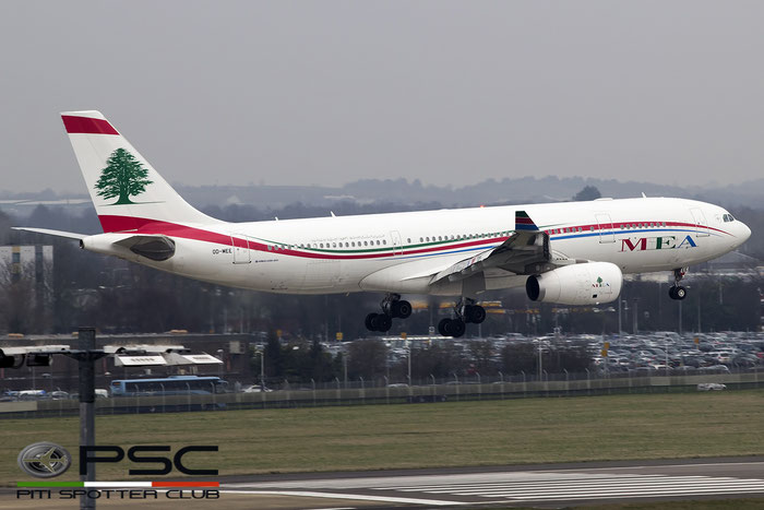 OD-MEE A330-243 1725 MEA - Middle East Airlines @ London Heathrow Airport 14.02.2017 © Piti Spotter Club Verona