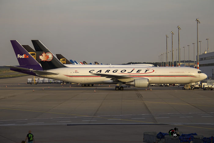 C-GUAJ B767-35EERBCF 26063/434 Cargojet Airways @ Cologne/Bonn Airport 08.2015 © Piti Spotter Club Verona