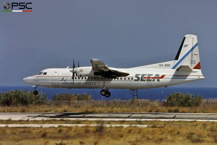 SX-BSE Fokker 50 20104 SEEA - Southeast European Airlines © Piti Spotter Club Verona