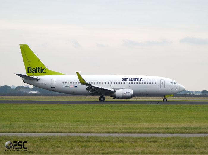 YL-BBI B737-33A 27454/2703 airBaltic @ Amsterdam Airport 20.09.2013 © Piti Spotter Club Verona