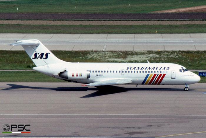 LN-RLL DC-9-21 47301/382 SAS Scandinavian Airlines - Scandinavian Airlines System © 2018 courtesy of Marco Ceschi - Piti Spotter Club Verona
