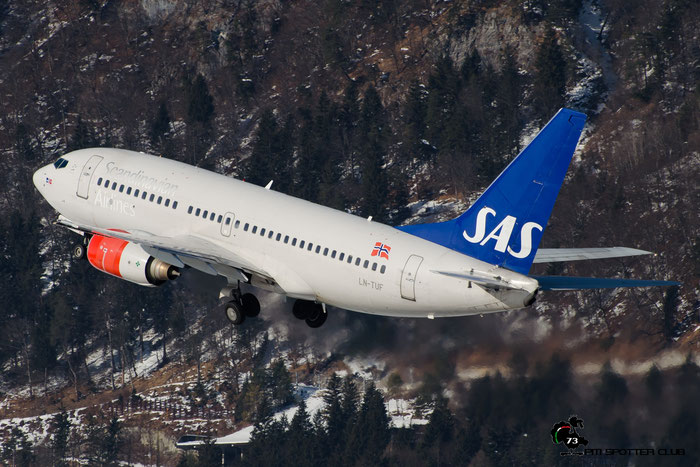 LN-TUF B737-705 28222/245 SAS Scandinavian Airlines - Scandinavian Airlines System @ Innsbruck Airport 28.01.2017 © Piti Spotter Club Verona