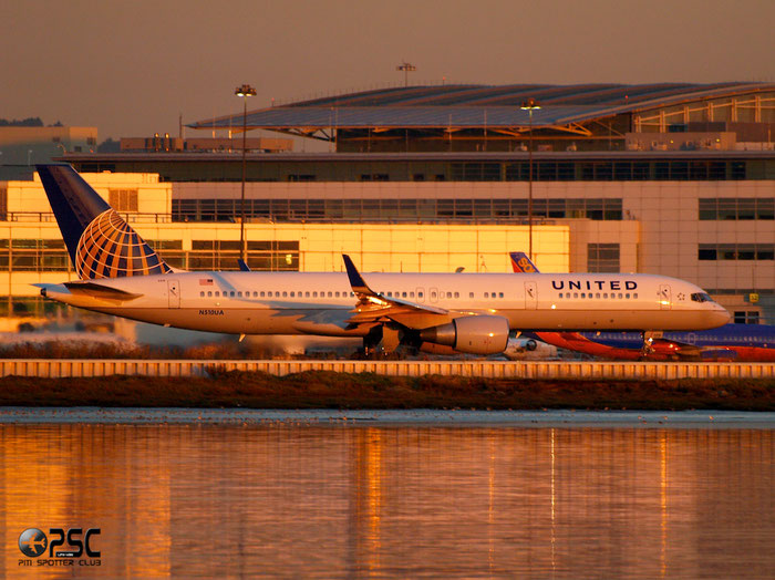 N510UA B757-222 24780/290 United Airlines @ San Francisco Airport 14.10.2013 © Piti Spotter Club Verona