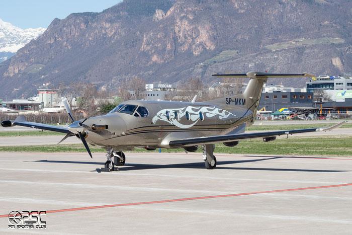SP-MKM PC-12/47E 1338 SG Leasing Equipment @ Aeroporto di Bolzano © Piti Spotter Club Verona