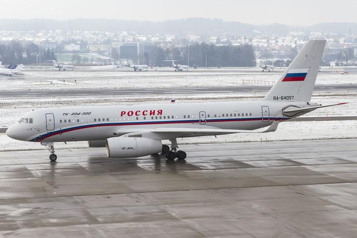 RA-64057 1450744164057 Tu-204-300 RA-64057 Rossiya @ Zurich Airport 20.01.2016 © Piti Spotter Club Verona
