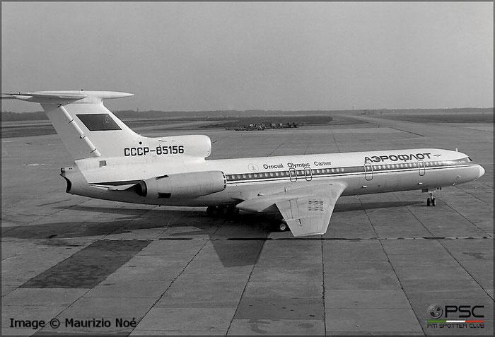 76A156    CCCP-85156     Tu-154B    AFL/International mfd   14jun76   © courtesy of Maurizio Noè - @ Aeroporto di Milano Malpensa