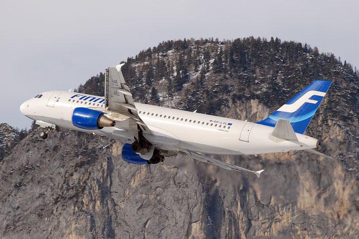 OH-LXL A320-214 2146 Finnair @ Innsbruck Airport 01.2012 © Piti Spotter Club Verona