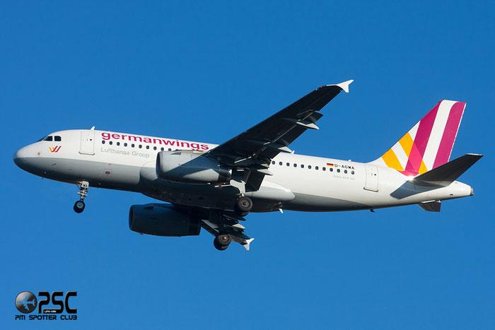 D-AGWA A319-132 2813 Germanwings @ Milano Malpensa Airport 27.12.2013 © Piti Spotter Club Verona