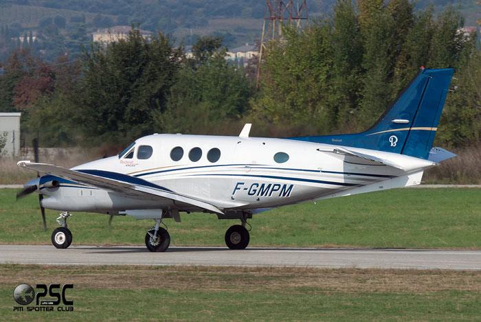 F-GMPM Beech Aircraft Corp C90A King Air BE9L LJ-1303 @ Aeroporto Verona Boscomantico © Piti Spotter Club Verona