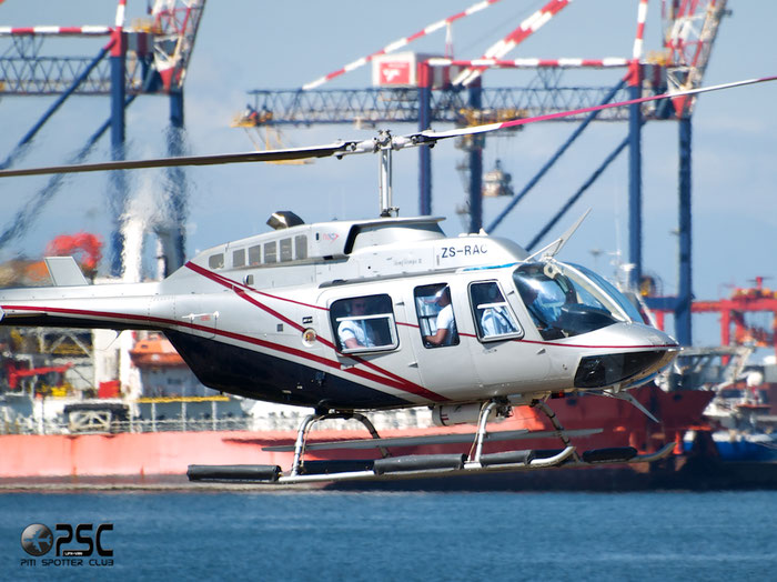 ZS-RAC. Bell 206L-4 LongRanger @ Cape Town downtown Heliport Airport 19.03.2014 © Piti Spotter Club Verona