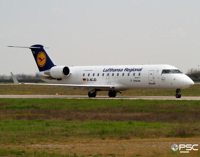 D-ACJD CRJ100LR 7135 Lufthansa Regional @ Aeroporto di Verona 05.04.2008  © Piti Spotter Club Verona
