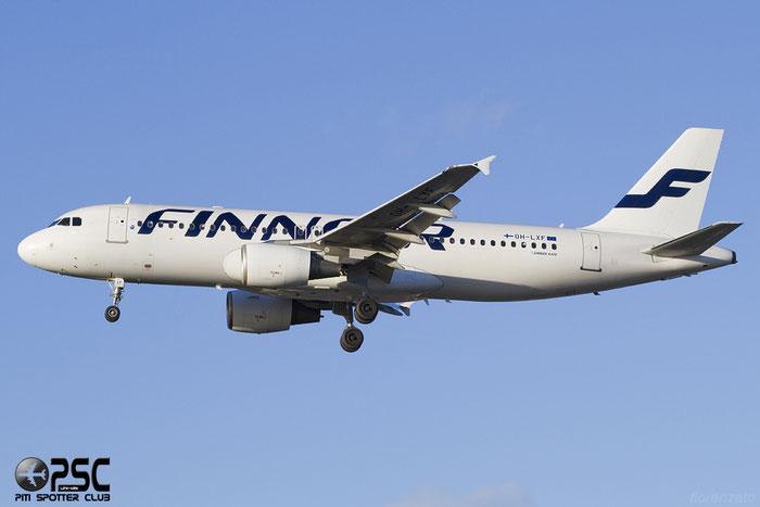 OH-LXF A320-214 1712 Finnair @ London Heathrow Airport 07.02.2014 © Piti Spotter Club Verona