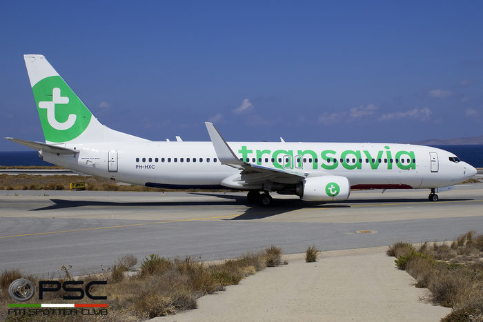 PH-HXC B737-8K2 41342/5842 Transavia Airlines @ Heraklion Airport 09.2016  © Piti Spotter Club Verona