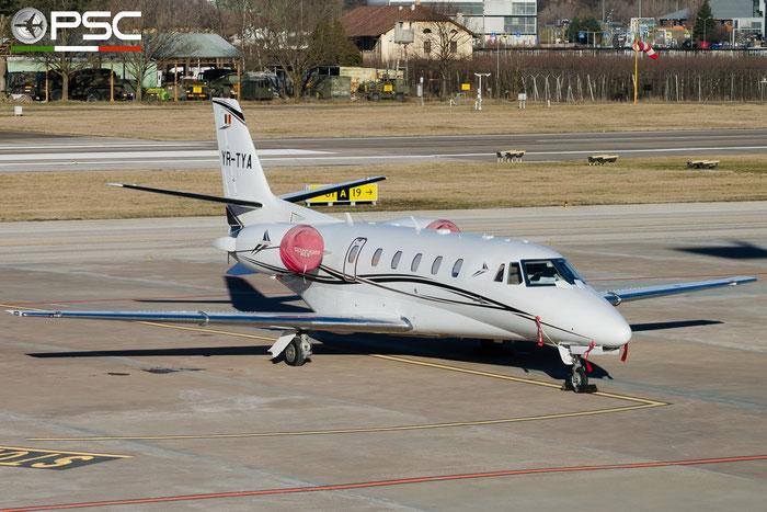 YR-TYA Ce560XLS+ 560-6075 Toyo Aviation @ Aeroporto di Bolzano © Piti Spotter Club Verona