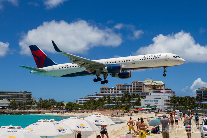 N672DL B757-232 25977/429 Delta Air Lines @ Sint Maarten Airport 09.04.2016 © Piti Spotter Club Verona