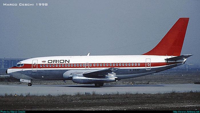G-BKAP  B737-2L9  21685/549  Orion Airways  @ Aeroporto di Verona © Piti Spotter Club Verona