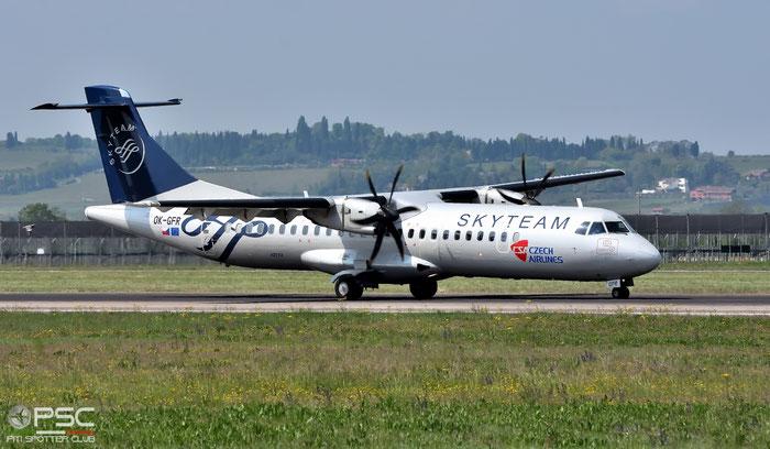 OK-GFR ATR72-212A 681 CSA Czech Airlines @ Aeroporto di Verona 12.04.2017  © Piti Spotter Club Verona