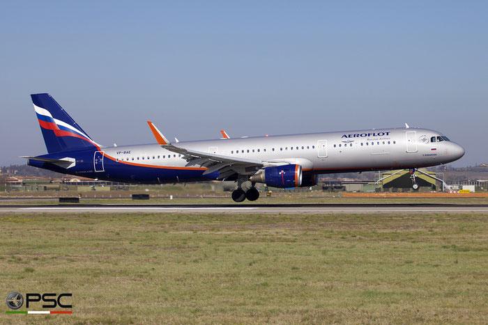 VP-BAE A321-211 7193 Aeroflot @ Aeroporto di Verona 03.2019  © Piti Spotter Club Verona