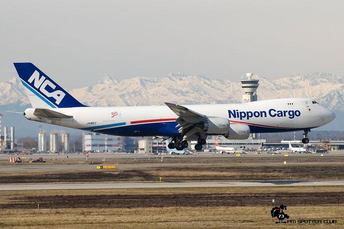 JA19KZ B747-8KZF 36142 NCA - Nippon Cargo Airlines @ Milano Malpensa Airport 22.02.2016 © Piti Spotter Club Verona