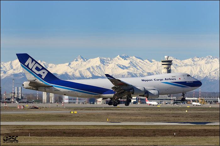 JA03KZ B747-481F 34018/1378 NCA - Nippon Cargo Airlines @ Milano Malpensa Airport 25.01.2014 © Piti Spotter Club Verona