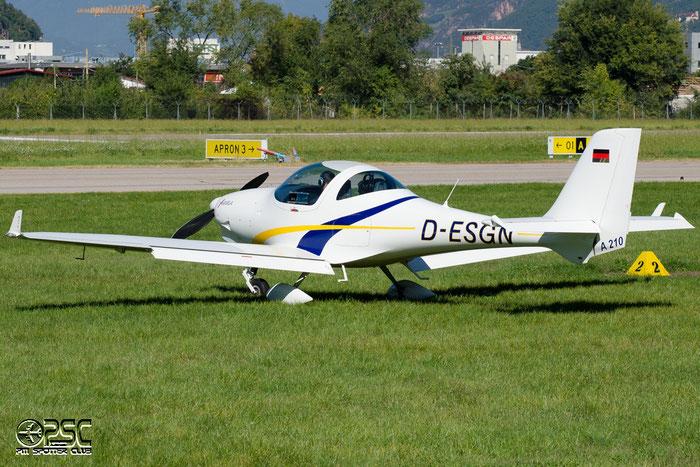 D-ESGN - Private - Aquila A.210 @ Aeroporto di Bolzano © Piti Spotter Club Verona