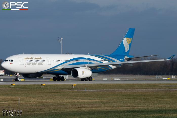 A4O-DJ A330-343E 1599 Oman Air @ Munich Airport 13.12.2015 © Piti Spotter Club Verona