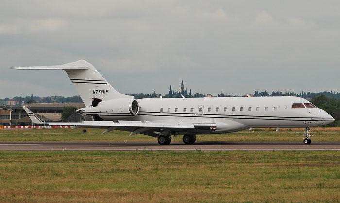 N770KF Global 6000 9749 KW770 LLC @ Aeroporto di Verona 01.09.2018  © Piti Spotter Club Verona