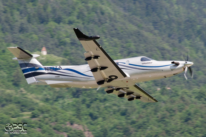 N77ZA Pilatus PC-12/45 PC12 300 PMC Distribution Inc @ Aeroporto di Bolzano © Piti Spotter Club Verona