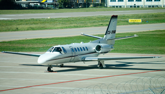 CS-DHM Ce550 Bravo 550-1093 NetJets Europe @ Aeroporto di Bolzano © Piti Spotter Club Verona