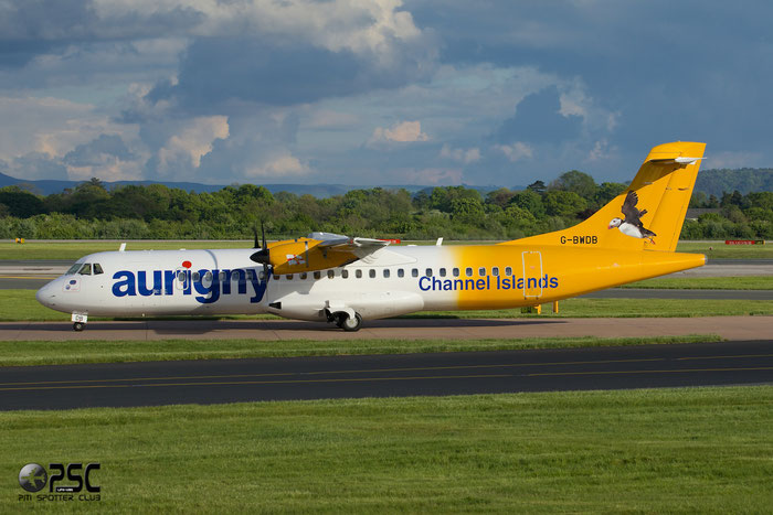 G-BWDB ATR72-202 449 Aurigny Air Services @ Manchester Airport 13.05.2014  © Piti Spotter Club Verona