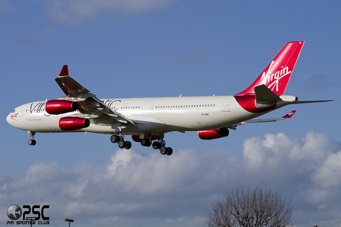 G-VAIR A340-313X 164 Virgin Atlantic Airways @ London Heathrow Airport 07.02.2014 © Piti Spotter Club Verona