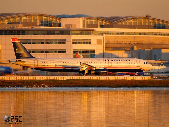 N562UW A321-231 5332 US Airways @ San Francisco Airport 14.10.2013 © Piti Spotter Club Verona