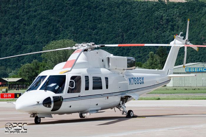 N768SX Sikorsky S-76B S76 760372 H2T AA60E6 Wings Venture Ltd @ Aeroporto di Bolzano © Piti Spotter Club Verona