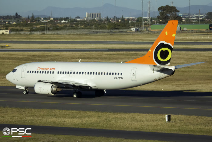 ZS-VDB B737-31L 27345/2625 Mango @ Cape Town International Airport 24.11.2017 © Piti Spotter Club Verona