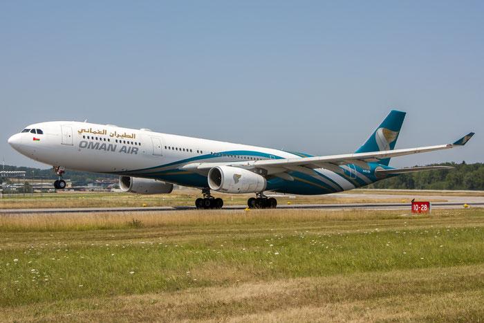 A4O-DB A330-343E 1044 Oman Air @ Zurich Airport 20.07.2013 © Piti Spotter Club Verona