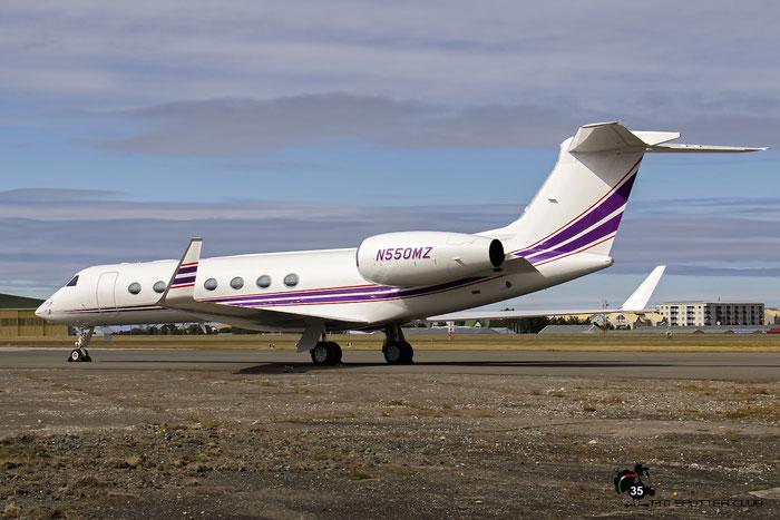 N550MZ G550 5095 Redbird Services LLC @ Reykjavik Airport 08.2015 © Piti Spotter Club Verona