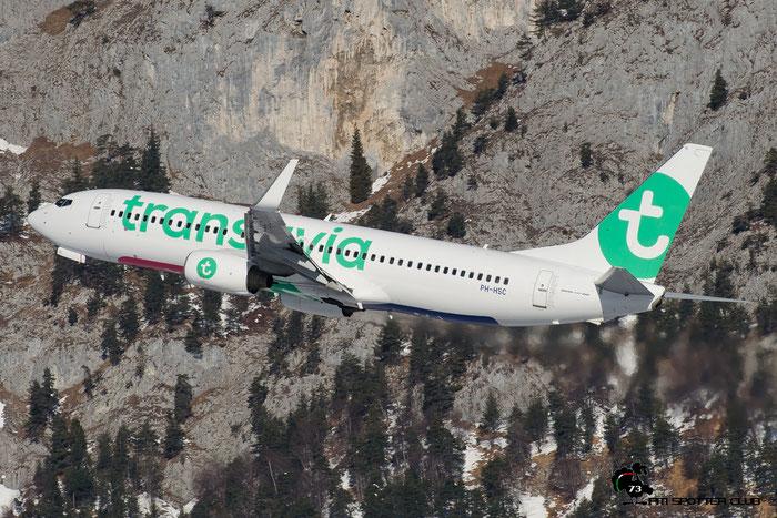 PH-HSC B737-8K2 34173/3266 Transavia Airlines @ Innsbruck Airport 28.01.2017  © Piti Spotter Club Verona