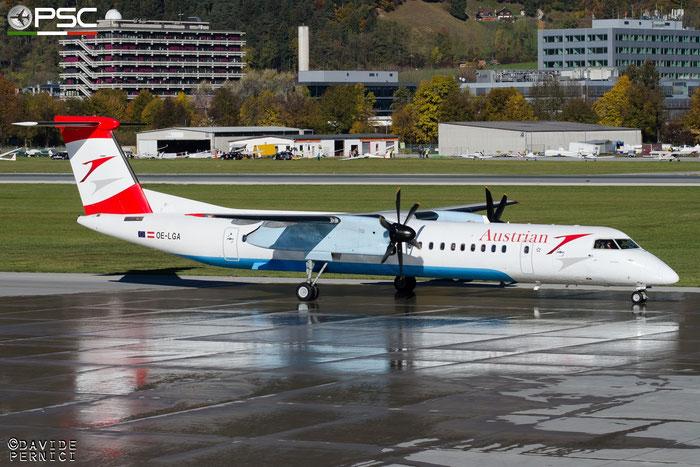 OE-LGA DHC-8-402 4014 Austrian Airlines @ Innsbruck Airport 10.2015 © Piti Spotter Club Verona