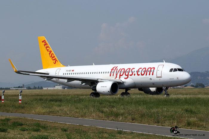 TC-DCI A320-216 6666 Pegasus Airlines @ Bergamo Airport 13.09.2016 © Piti Spotter Club Verona