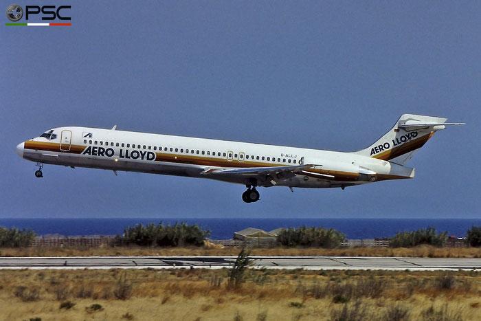 D-ALLJ MD-87 49768/1595 Aero Lloyd @ Rhodes Airport © Piti Spotter Club Verona
