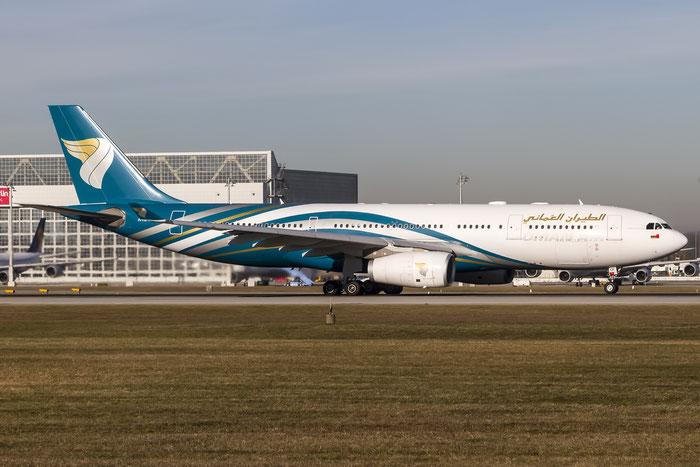 A4O-DF A330-243 1120 Oman Air @ Munich Airport 28.12.2015 © Piti Spotter Club Verona