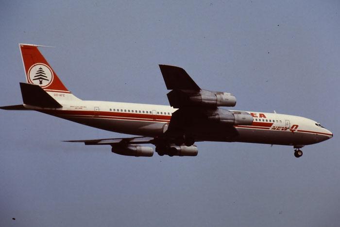 OD-AFE  B707-3B4C  20260/823  MEA - Middle East Airlines  @ Aeroporto di Verona © Piti Spotter Club Verona