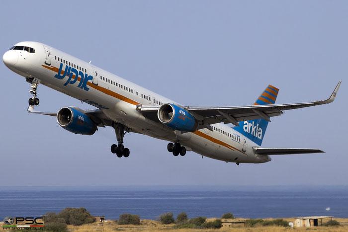 4X-BAW B757-3E7 30179/912 Arkia Israeli Airlines @ Heraklion Airport 10.09.2017 © Piti Spotter Club Verona
