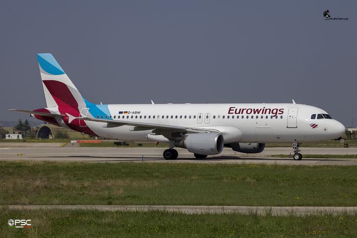 D-ABNI A320-214 1717 Eurowings @ Aeroporto di Verona 09.04.2017  © Piti Spotter Club Verona