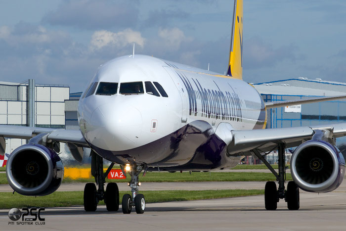 G-OZBF A321-231 1763 Monarch Airlines @ Manchester Airport 13.05.2014 © Piti Spotter Club Verona